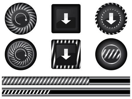 Collection of special modern preloaders and buffering elements Vector