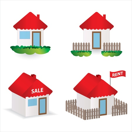 set of 4 special building illustrations Stock Vector - 12352723