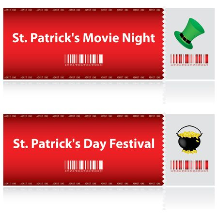 special tickets for St. Patrick's Day Stock Vector - 12352807