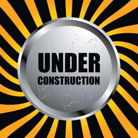 metal worker: under construction sign