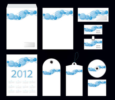 vector template of identity set - stationery design Vector