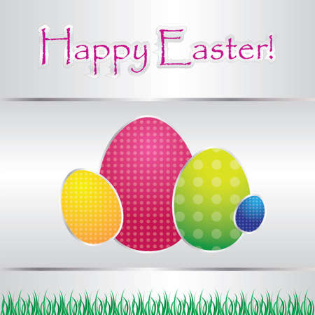 special card with easter eggs Vector