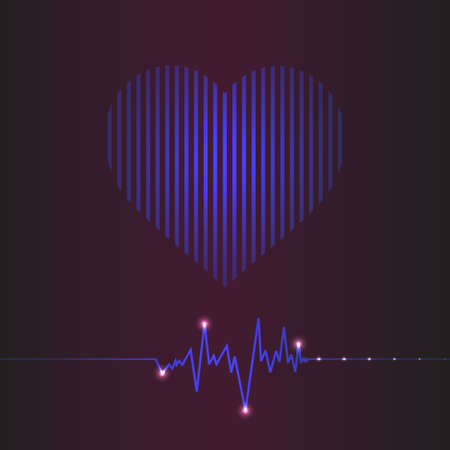 taking pulse: special abstract heart beats cardiogram illustration Illustration