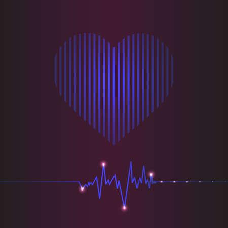 taking pulse: special abstract heart beats cardiogram illustration Illustration