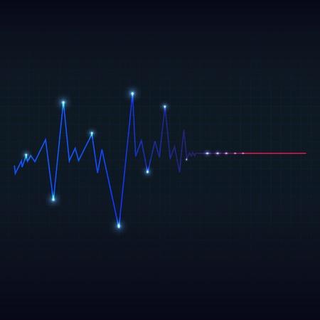 electrocardiograma: cardiograma corazón especial Vectores