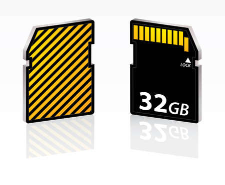 sd card: special SD card Illustration