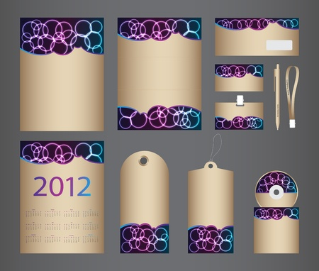 special stationery design set in vector format Vector