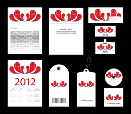Vector template of identity set Stock Vector - 12822055