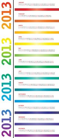 special calendar for 2013 Illustration