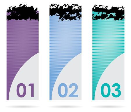 set of three banners with special design Vector