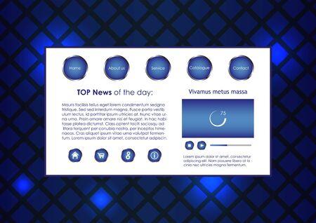 blue business website template Stock Vector - 13029268
