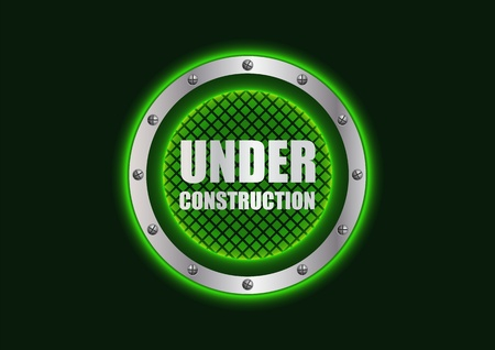special under construction background with metallic design Vector
