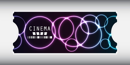 special movie ticket with plasma design Vector