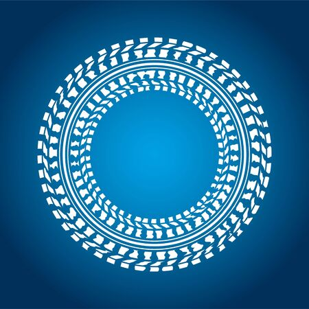 huellas de neumaticos: fondo especial de color azul con diseño de los neumáticos