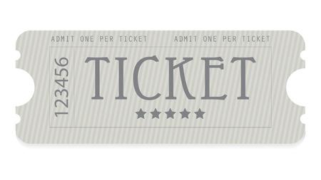 cinema ticket: old entrance ticket with special design