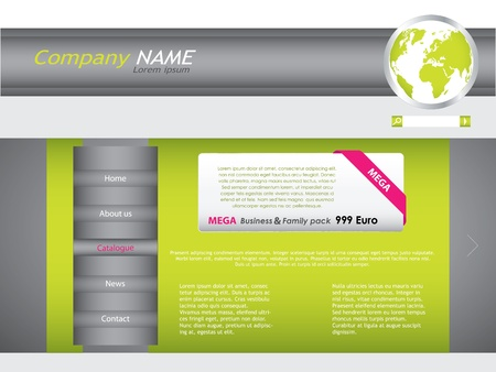 Vector web site design template Vector