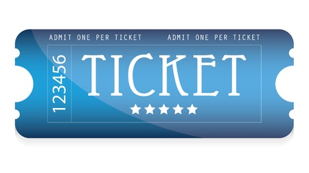 special blue movie ticket  Ilustracja