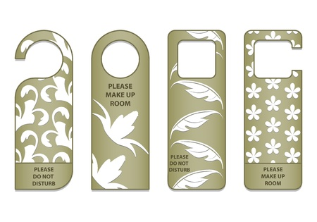 do not disturb sign with special design Vector