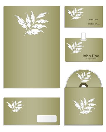Stationery set design in editable illustration Vector