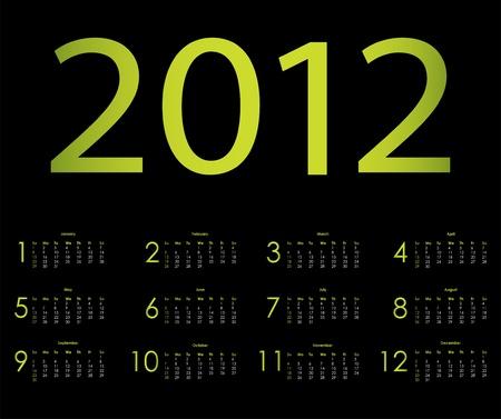 calendar design: 2012 calendar design