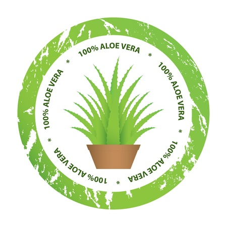 special aloe vera stickers for your business Stock Vector - 13739241