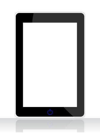 modern palmtop: special tablet pc isolated on white background Illustration