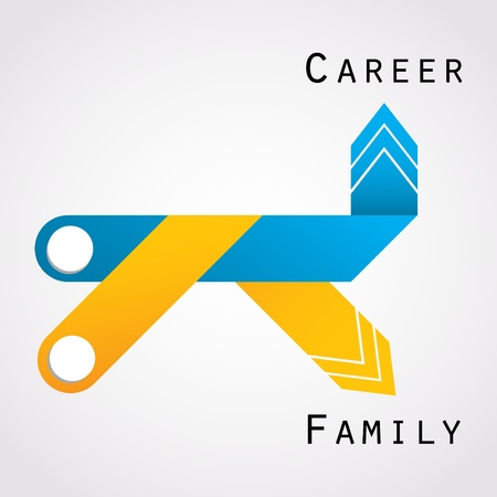career and family balance Vector
