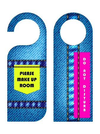 do not: hotel do not disturb door hanger with special jeans design Illustration