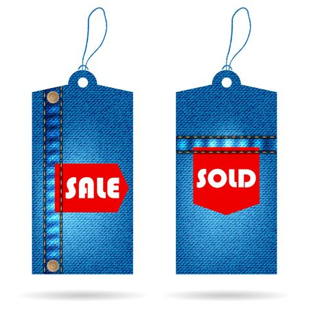 special price tag with special jeans design Vector