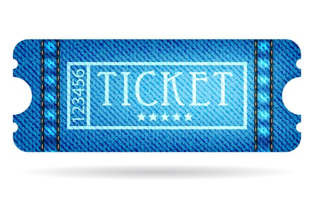 special ticket with jeans design Vector