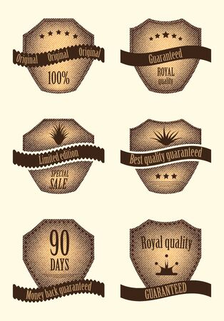 set of special labels with vaus design Stock Vector - 14174041