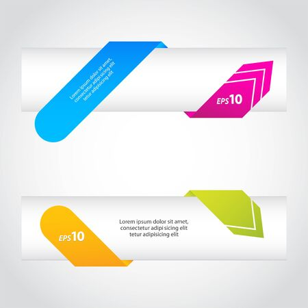 colorful origami arrow banners Vector