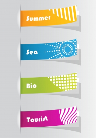set of colorful vector sample stickers for your website Illustration