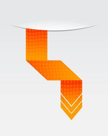 orange arrow: orange origami speech bubble with special design