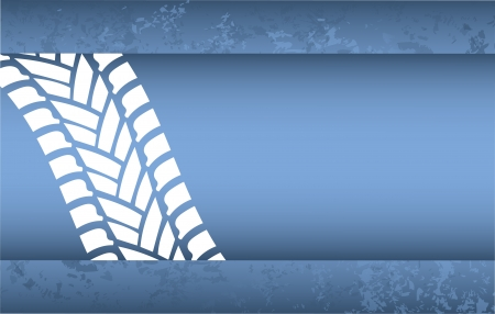 skid: special blue grunge tire track background Illustration