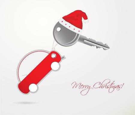 kerstmuts: auto sleutel met afstandsbediening - kerstcadeau