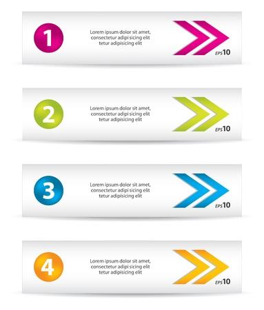 knopf: Vector Banner mit speziellen farbigen Pfeile und Symbole