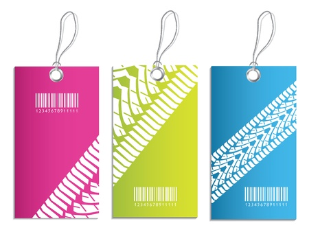 special price tag with tire design Vector