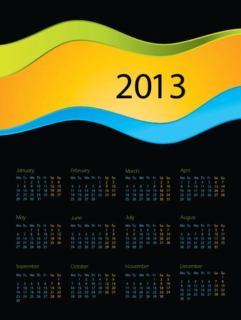 special calendar design for 2013 Vector