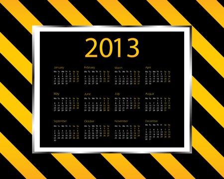 special Calendar Design - 2013 Stock Vector - 14658284