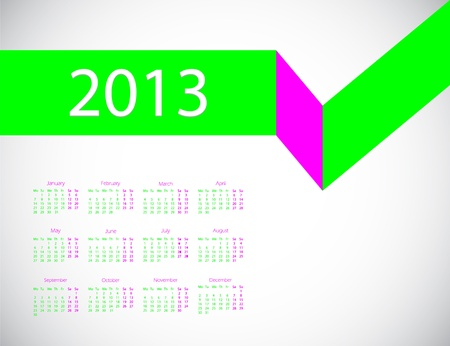 abstract business calendar 2013 Vector
