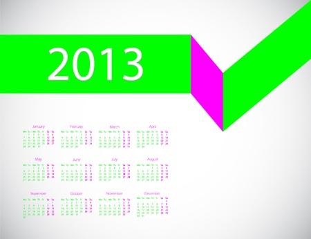 abstract business calendar 2013 Stock Vector - 14776011