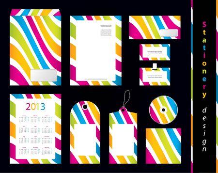cardholder: Stationery design set with special design
