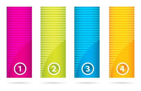 special labels set with numbered buttons Vector
