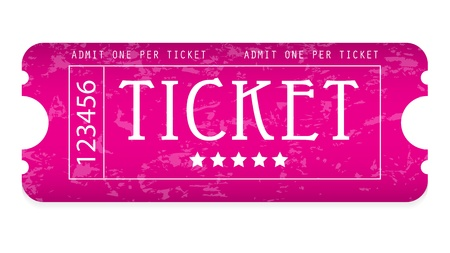 special event: special grunge movie ticket for your website Illustration