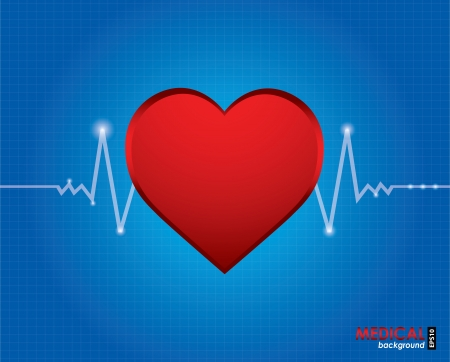 electrocardiogram with special design Vector