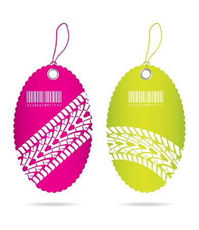 special price tags with tire design Vector
