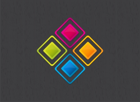 beautiful colorful square background Vector
