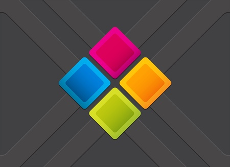 colorful square blank background  Vector