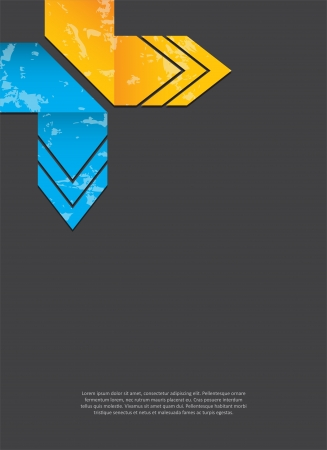 advertisment: abstract background with grunge origami arrows Illustration